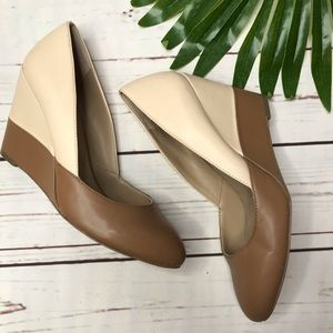 {Sole Society} sz 7.5 colorblock wedge heels